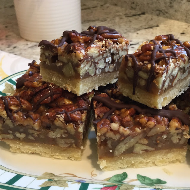 Pecan squares are perfect small bites for dessert.