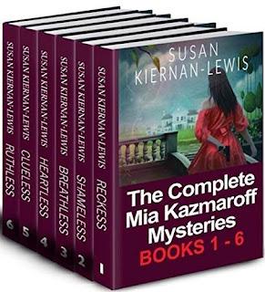The Complete Mia Kazmaroff Mysteries, Books 1-6 promotion Susan Kiernan-Lewis