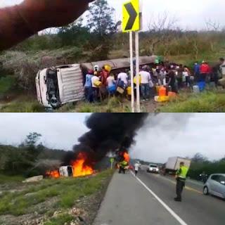 Caminhão explode na Colômbia