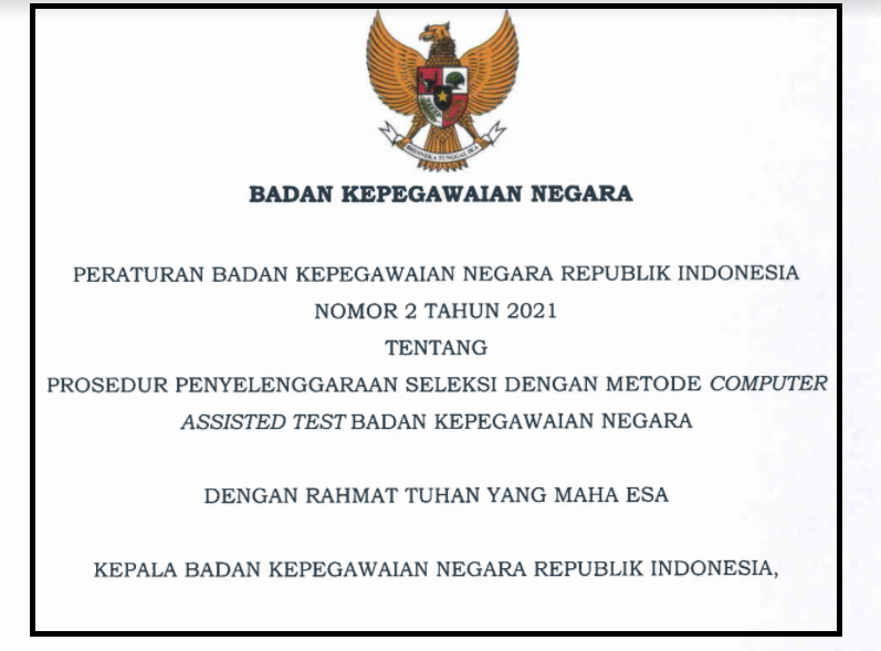 gambar perka bkn no 2 tahun 2021