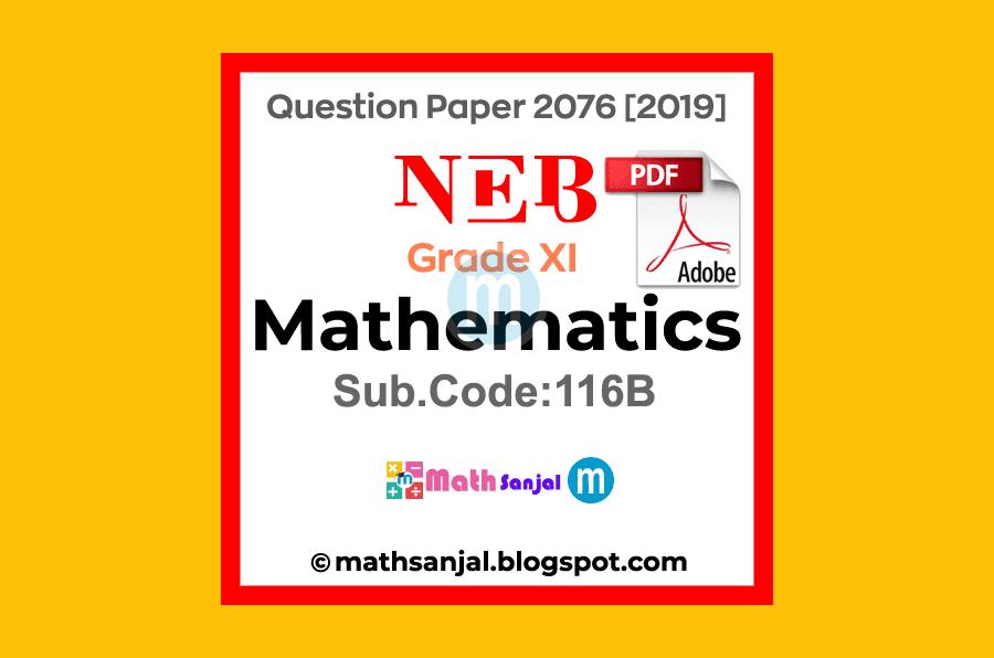 Mathematics-Question-Paper-2076-2019-Grade-11-XI-Code-116B-NEB