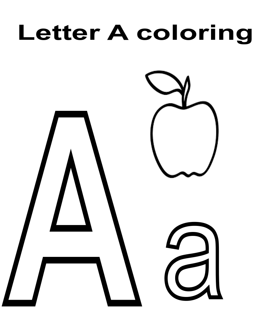 EARLY EDUCATION : Letter A Worksheets coloring