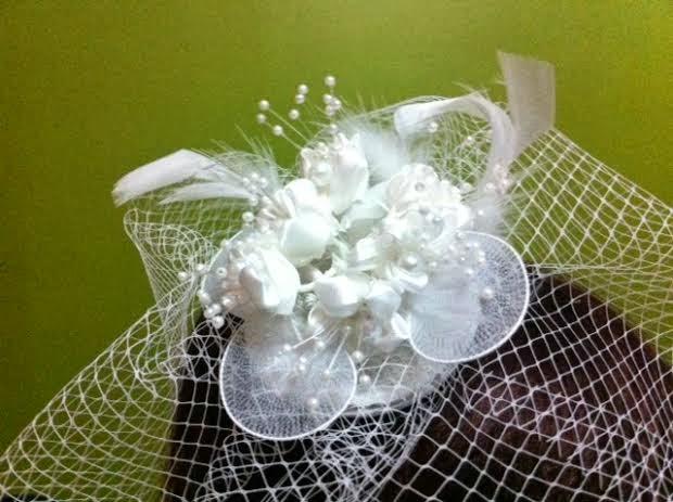 beyaz inci küçük çiçek gelin nikah düğün