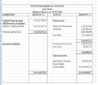 Balance Sheet Format Example 3