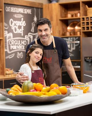 Edu Guedes e a filha Maria Eduarda - Crédito: Kelly Fuzaro/Band