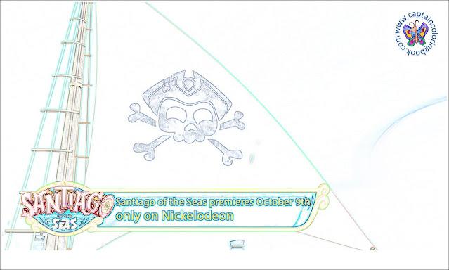 Santiago of the Seas Sneak Peek Coloring Page
