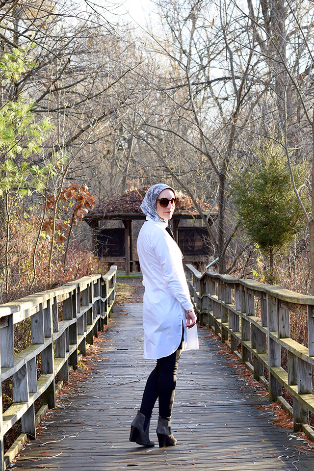 VED by Melchior Shirt dress - White shirt dress - Layered look - Bespoke design - Modest Fashion - Fashion Blogger - Tunic Shirt Dress