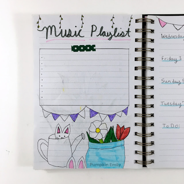 Bullet Journal Music Playlist