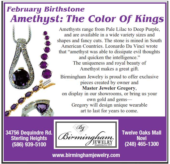 Color Of The Month February 2016: Birmingham Jewelry: BIRTHSTONE OF THE MONTH~ February