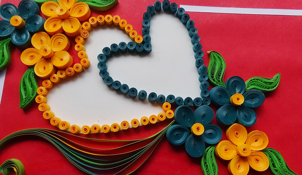 Paper quilling desings how to make a beautiful heart shapeed paper quilling desings how to make a beautiful heart shapeed quilling greeting card izmirmasajfo