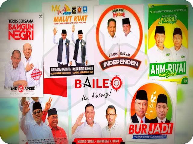 Tujuh Pasang Calon Pemimpin Bertaruh di Pilkada Maluku dan Malut