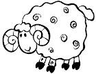Dibujos colorear ovejas