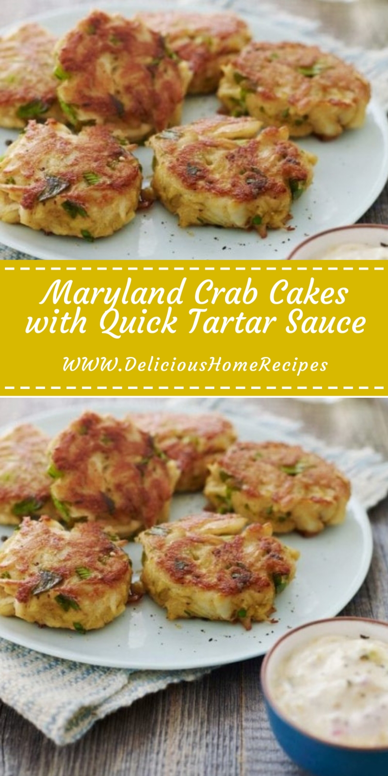 Maryland Crab Cakes with Quick Tartar Sauce #christmas #dinner