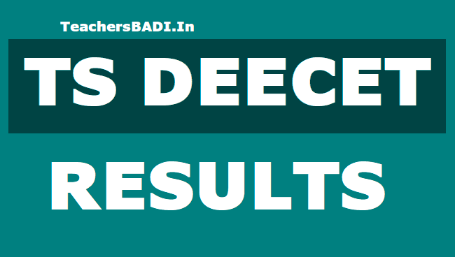 TS DEECET 2019 Rank Cards, Results for TS DIETCET Admissions
