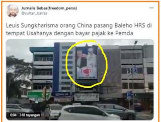 Sering Didatangi Aparat Karena Baliho HRS, Warung Makan Milik Tokoh Tionghoa Akhirnya Ditutup