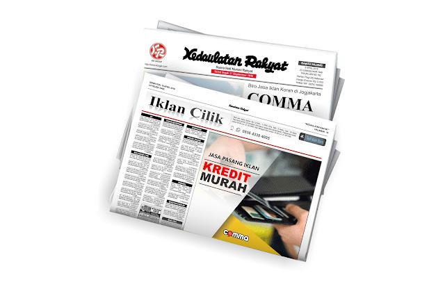 pasang iklan kredit murah di koran KR