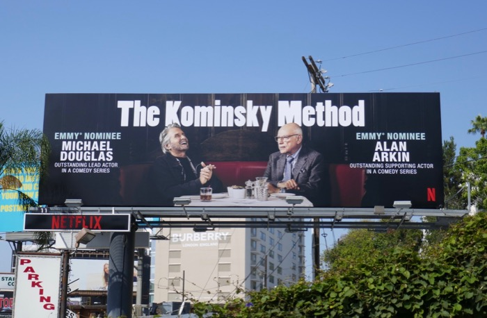 Kominsky Method 2019 Emmy nominee billboard