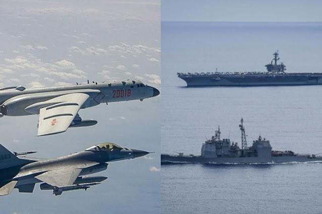 Tak Bisa Dihindari, Laut China Selatan Tunggu Pertempuran Mengerikan, 12 Jet Tempur Tiongkok vs Kapal Induk dan 3 Kapal Penghancur AS!
