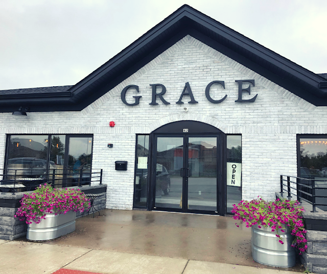 Brunching It at Grace Coffee and Wine in Yorkville, Illinois enjoying chai tea, salads, sandwiches and french toast at a local family owned coffee and wine cafe