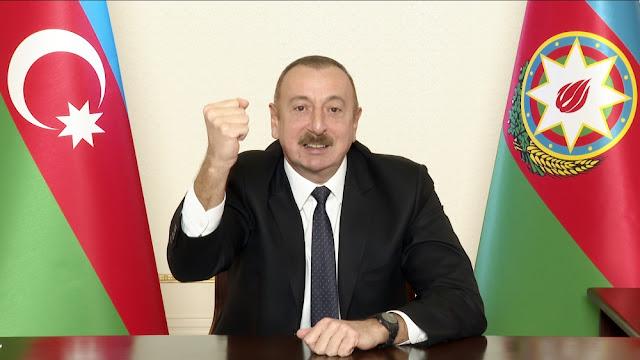 بيان للرئيس إلهام علييف  الى الشعب الاذربيجاني بمناسبة تحرير لاتشين واستعادة كل الاراضي المحتلة