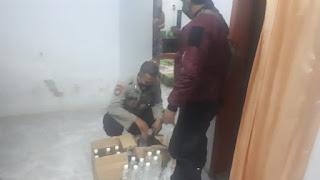 Belasan Botol Miras Berhasil Diamankan Polsek Tanggul