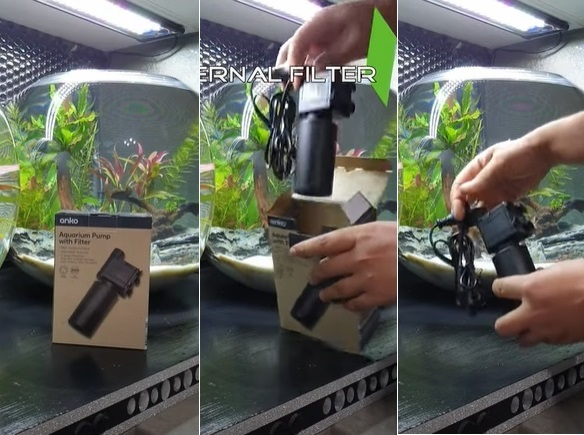 Unboxing a fish bowl filter