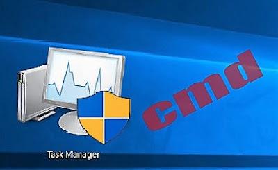 فتح مدير المهام Task Manager من خلال موجه الاوامر cmd