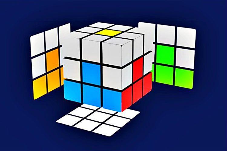 3x3'lük Akıl Küpü'nün alt köşelerini doğru yerlere döndürmeniz gerekecek ve beyaz bölümleri çözülmüş olacaktır.