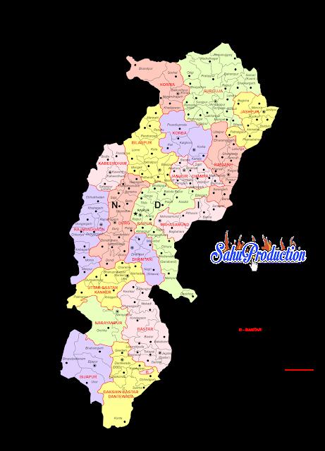 Chhattisgarh information Map