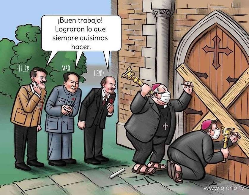 Para muitos católicos o fechamento das igrejas resutou também de um grande processo anti-cristão