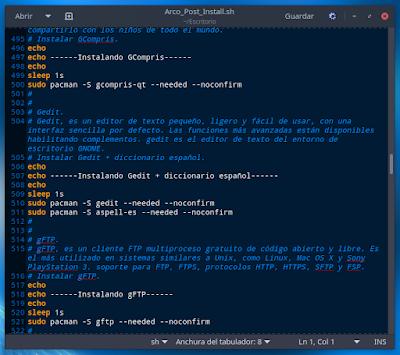 Script Arco_Post_Install.sh