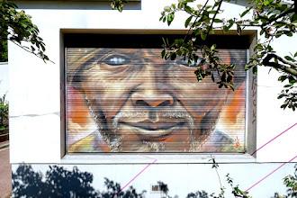 Sunday Street Art : Monk.e - Bibliothèque Couronnes - Naguib Mahfouz - rue Julien Lacroix - Paris 20