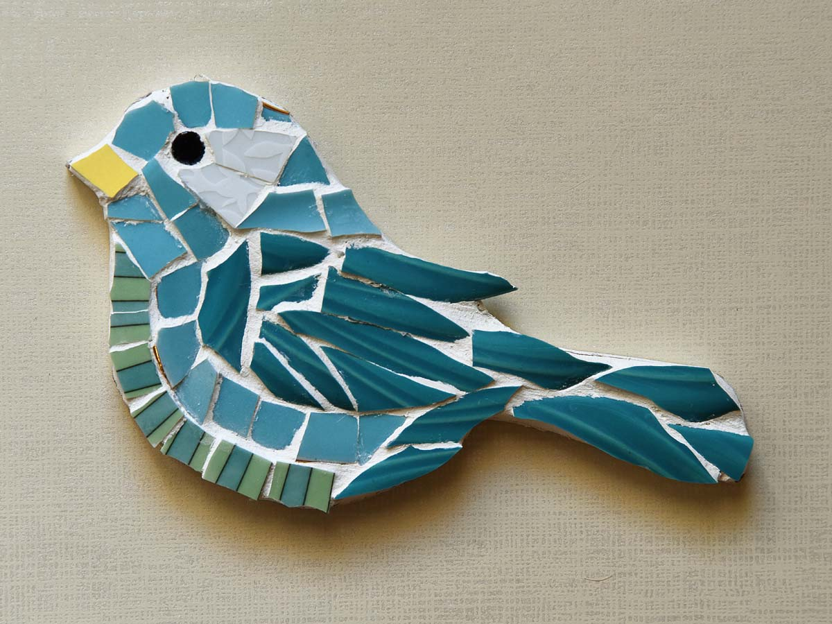 Picassiette Mosaic Bird by Jeanne Selep