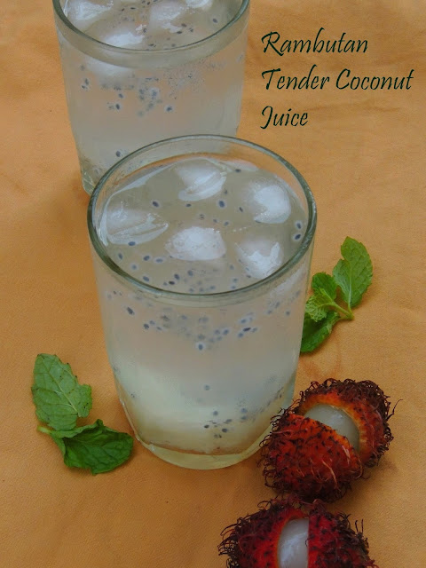 Rambutan Tender coconut & Basil Seeds Juice