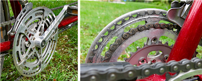 tripelized Stronglight 49 D tandem crankset