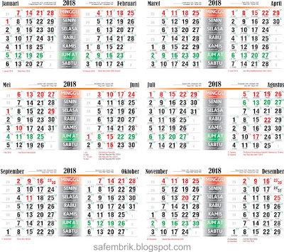 Kalender Meja 2018 Pdf