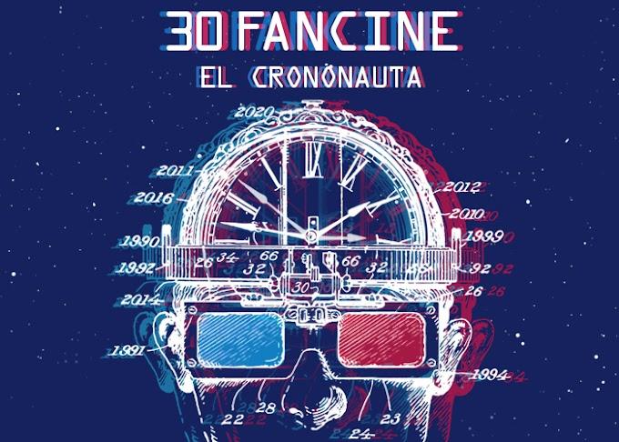 Habemus Cartel del 30 Fancine: Festival de Cine Fantástico Universidad de Málaga. Un aniversario aliado con el tiempo.