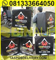 tas delivery makanan, box delivery motor crab paradise jogja