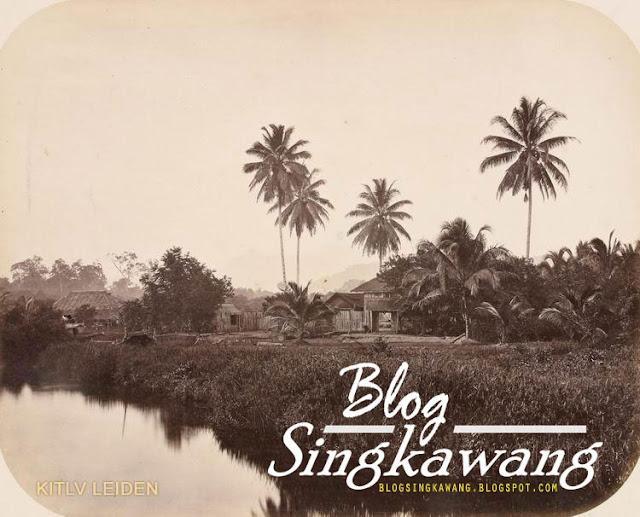 photo jadul Sungai singkawang menuju kampung jawa