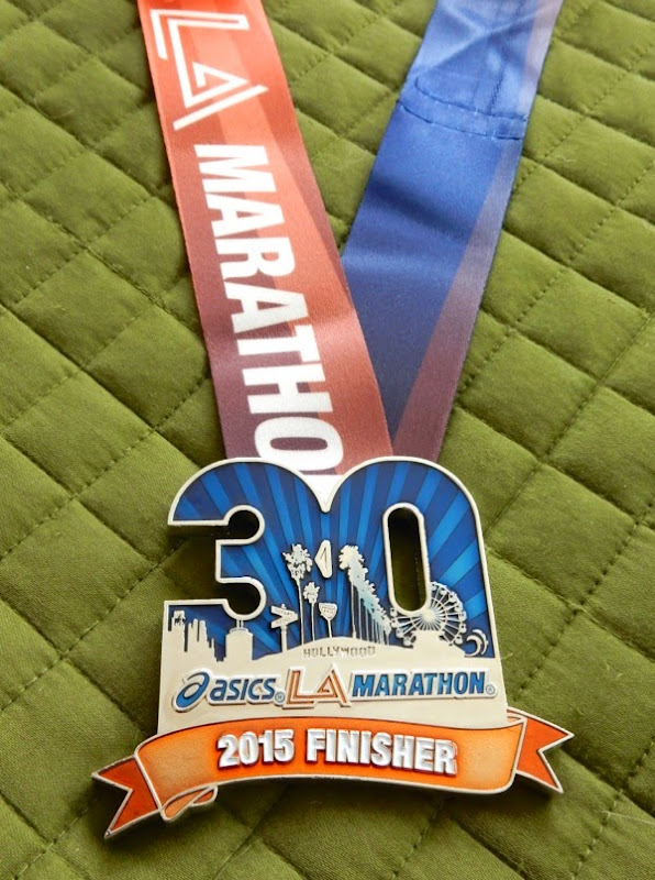 30th LA Marathon 2015 finisher medal