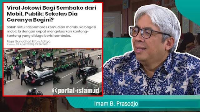 Konon, video yang tersebar ini menggambarkan aksi kepedulian seorang pejabat yang tengah membagi-bagikan bantuan pada pengendara Ojek Online yang berdiri di jalan. Mungkin saja, di dalam mobil itu adalah Presiden Jokowi atau Wakil Presiden Ma'ruf Amien.
