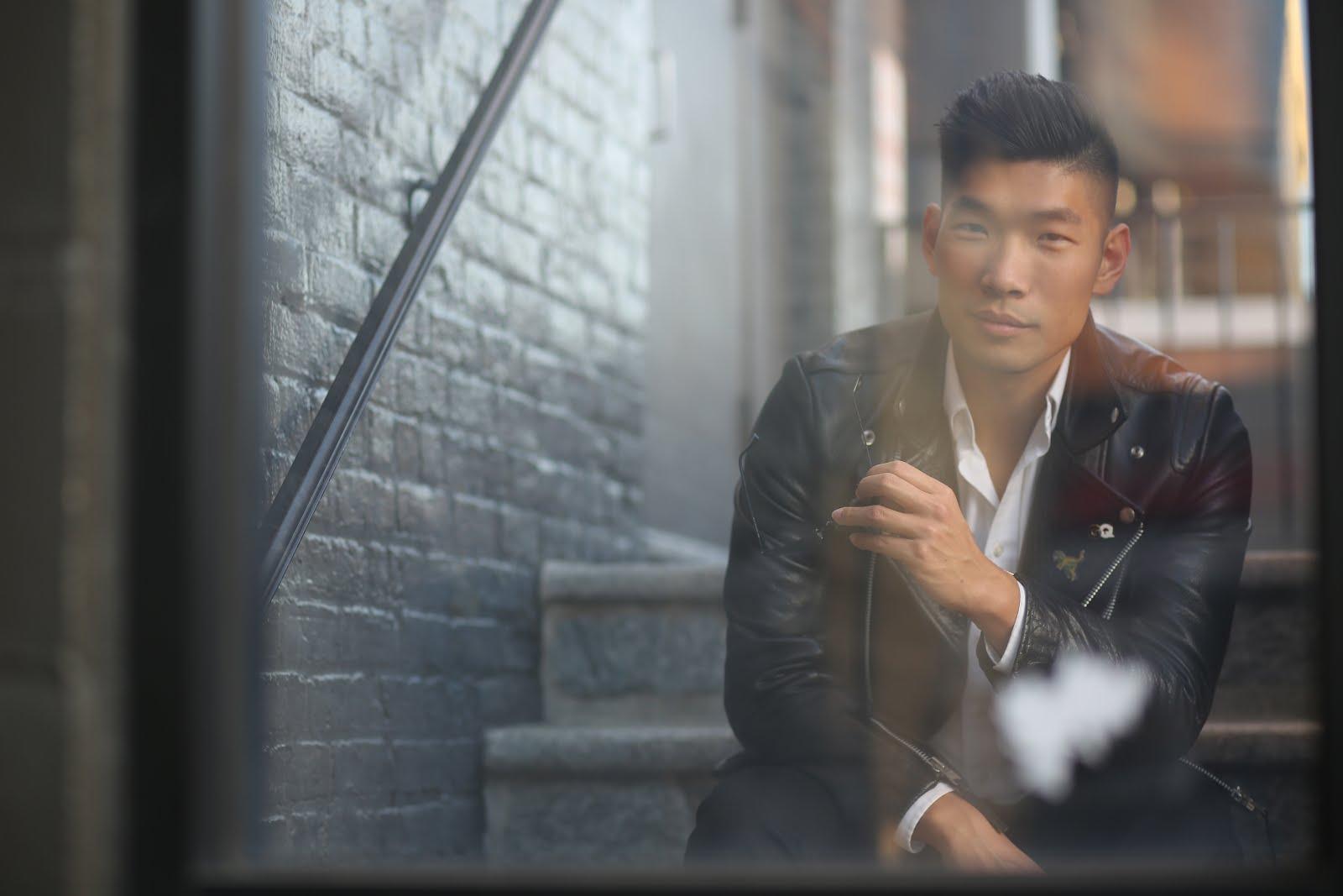 Levitate Style, Menswear Blogger, Leather Jacket pin streetstyle