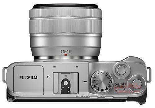 Fujifilm X-A7, вид сверху