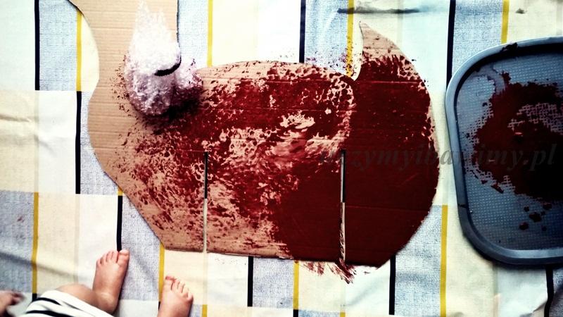 Malowanie folią bąbelkową