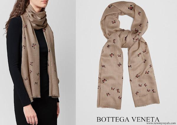 Queen Rania wore Bottega Veneta Cashmere Scarf