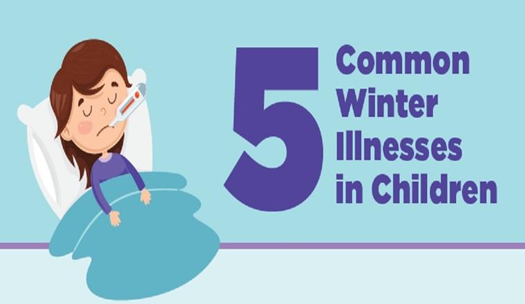 5 common winter illnesses in kids #infographic