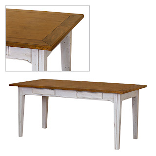 White Painted Mango Dining Table