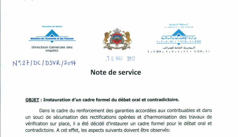 11 - CONTRÔLE FISCAL: UNE NOTE DE SERVICE POUR INSTAURER LE DIALOGUE AVEC LE CONTRIBUABLE