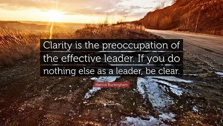 Clarity is effective leadership