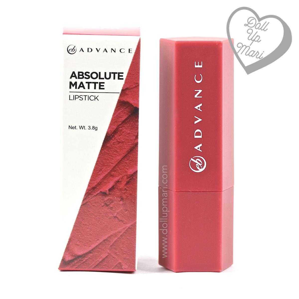 EB Advance Absolute Matte Lipstick (Perk) Review, Swatch